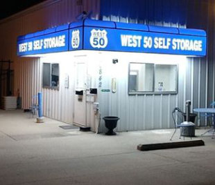 Front of West 50 Self Storage